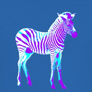 Neon zebra - Männer Slim Fit T-Shirt
