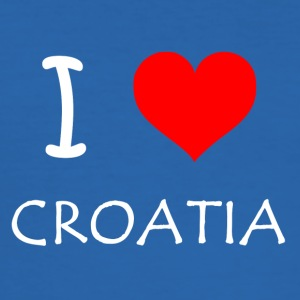 I Love Croatia - Men's Slim Fit T-Shirt