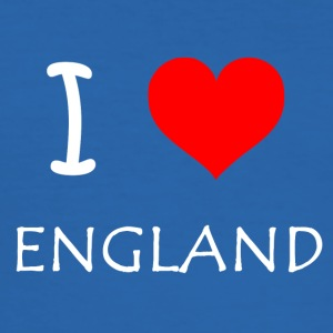 I Love ENGLAND - Slim Fit T-skjorte for menn