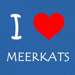 I Love Meerkats - Herre Slim Fit T-Shirt