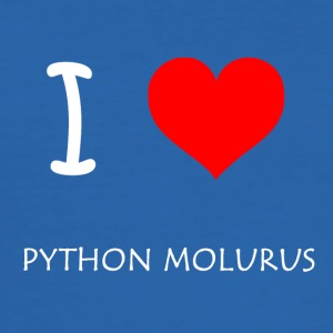 I Love Python Molurus - Männer Slim Fit T-Shirt