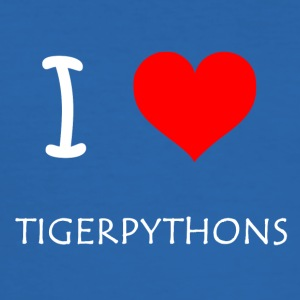 I Love Tigerpythons - Männer Slim Fit T-Shirt