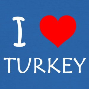 I Love Turkey - Männer Slim Fit T-Shirt