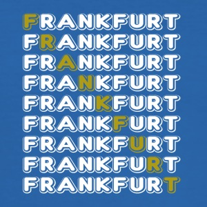 Frankfurt handtekening wit - slim fit T-shirt
