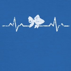 My heart beats for fish - Men's Slim Fit T-Shirt