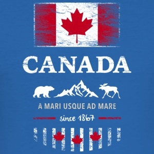 Canada Kanada Amerika maple leaf Flagge Fahne Bär - Männer Slim Fit T-Shirt