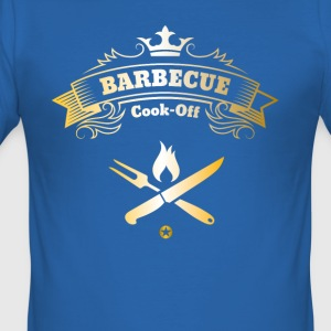 barbecue grilling master King Chef Man Steak feue - Men's Slim Fit T-Shirt