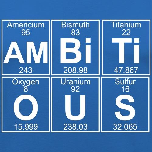 Am-Bi-Ti-O-U-S (ambitious) - Full - Men's Slim Fit T-Shirt