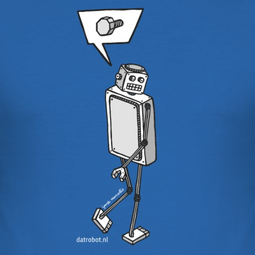 Dat Robot: Nerd Flirt Men - Mannen slim fit T-shirt