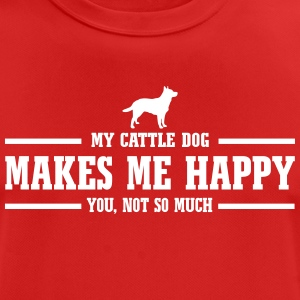 CATTLE DOG makes me happy - Männer T-Shirt atmungsaktiv