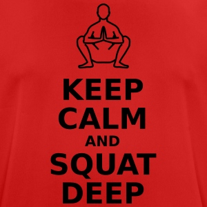 Keep calm and squat deep - Men's Breathable T-Shirt