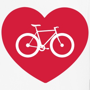 Cyclist with heart. T-shirt for cyclists - Men's Breathable T-Shirt