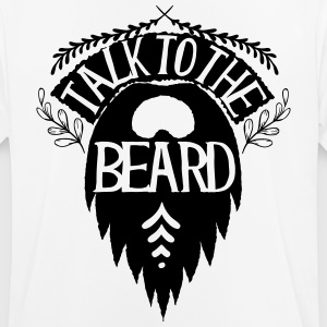 Talk to the beard - Männer T-Shirt atmungsaktiv