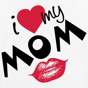 I love my Mom (vector) your Color - Men's Breathable T-Shirt