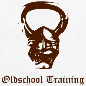 Oldschool training kettlebell Devil - mannen T-shirt ademend