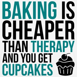 Baking cheaper than therapy - Men's Breathable T-Shirt