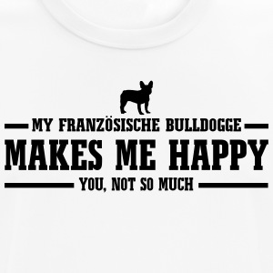 FRENCH BULLDOGS makes me happy - Men's Breathable T-Shirt