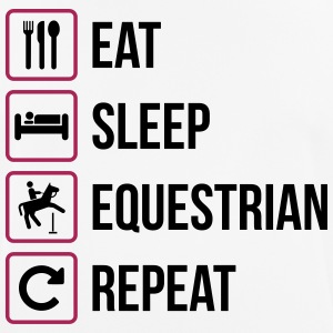 Eat Sleep Equestrian Repeat - Men's Breathable T-Shirt
