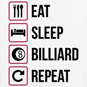 Eat Sleep Biljard Repeat - Andningsaktiv T-shirt herr
