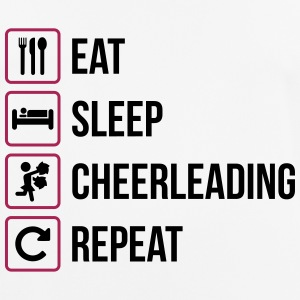 Eat Sleep Cheerleading Repeat - Andningsaktiv T-shirt herr