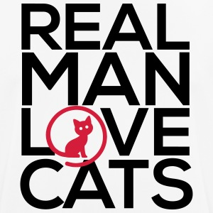 Real man love cats - Men's Breathable T-Shirt