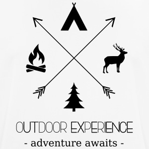 Outdoor Experience Adventure Awaits - Men's Breathable T-Shirt
