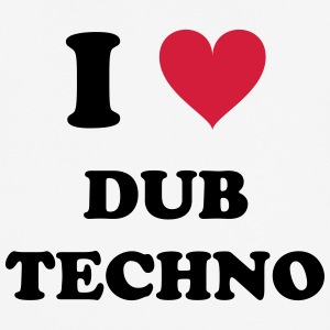 I LOVE TECHNO DUB - Pustende T-skjorte for menn