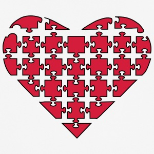heart Puzzle - Men's Breathable T-Shirt