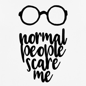 normal people scare me - black - Männer T-Shirt atmungsaktiv