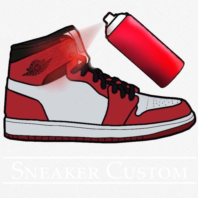 Sneaker Custom Logo /white text