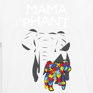 Autism Awareness Mamaphant Mommy Elephant T-Shirt - Men's Breathable T-Shirt