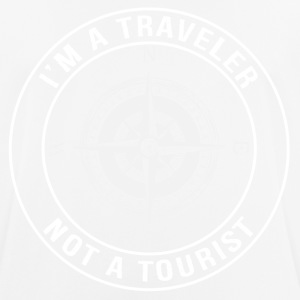 I'm a Traveler, Not a Tourist - Men's Breathable T-Shirt