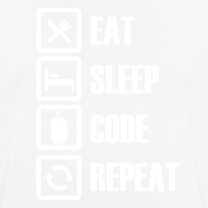 eat sleep code repeat - Camiseta hombre transpirable