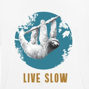 sloth live slow depend chilling calm lazy Forest - Men's Breathable T-Shirt