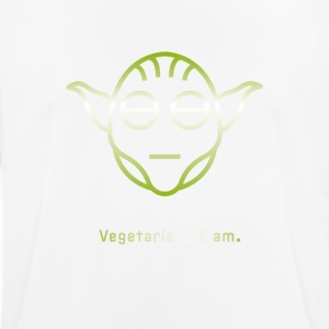 yoda vegetarian Vegg green Icon Head Star Line Fun - Men's Breathable T-Shirt