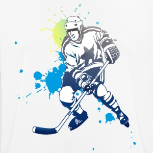 hockey splatter hockey player puck attack cool - Men's Breathable T-Shirt
