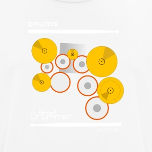 Drums Fusion White - mannen T-shirt ademend