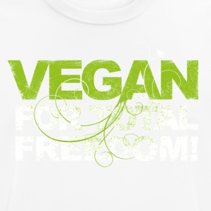 VEGAN FOR TOTAL FREEDOM (white) - Männer T-Shirt atmungsaktiv