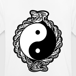 "YING YANG ""COBRA GEEST"" COLOR VERSION - mannen T-shirt ademend"