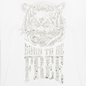 Tiger born to be free shirt - Men's Breathable T-Shirt