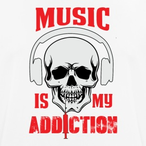 Musik mit Addiction - Herre T-shirt svedtransporterende