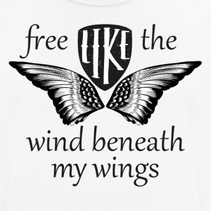 free like the wind beneath my wings - Männer T-Shirt atmungsaktiv