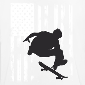 Skate jump us flag skateboard halfpipe olli long - Men's Breathable T-Shirt