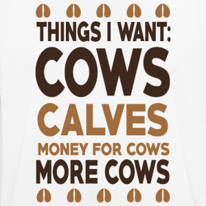 Cows calves money for cows more cows shirt - Men's Breathable T-Shirt