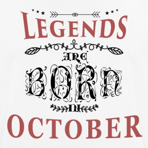 Birthday October legends born gift birth - Men's Breathable T-Shirt