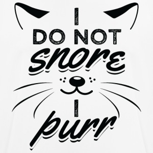 CAT CAT I DO NOT snurk ik SNORREN B - mannen T-shirt ademend