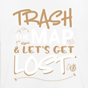 Trash the map and lets get lost - Men's Breathable T-Shirt