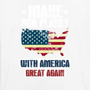 Make the Planet WITH AMERICA great again - Männer T-Shirt atmungsaktiv