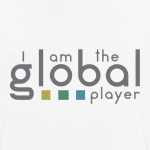 I am the global player - Männer T-Shirt atmungsaktiv