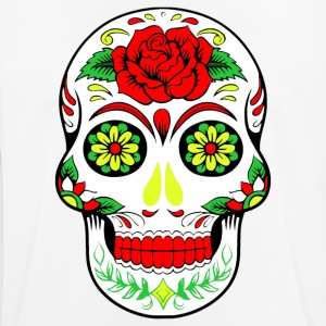Rainbow Flower Hippy Skull Design - Herre T-shirt svedtransporterende